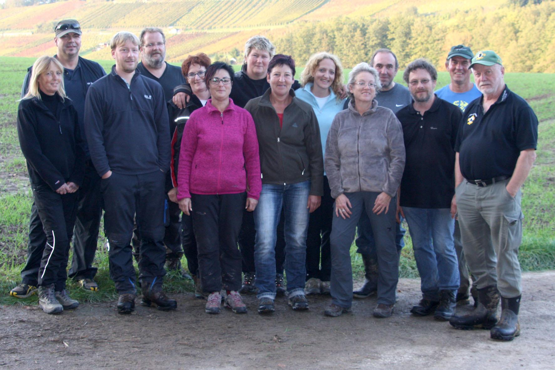 Die Teilnehmer des Fährtenseminars